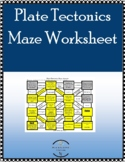Plate Tectonics Types of Boundaries & Features Maze Practice Worksheet
