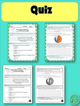 Plate Tectonics Unit Assessments (Test, Quiz, & Reflection)