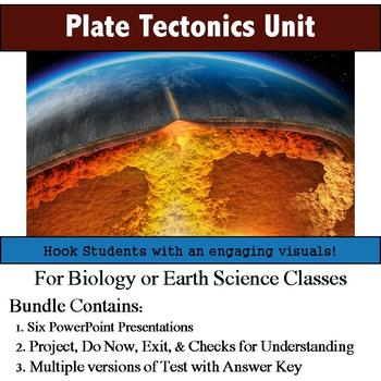Plate Tectonics Unit (Six Lesson Bundle with Notes, Activities, and Assessment)
