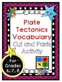 Plate Tectonics Vocabulary Activity