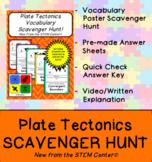 Plate Tectonics & Continental Drift Vocabulary Scavenger Hunt