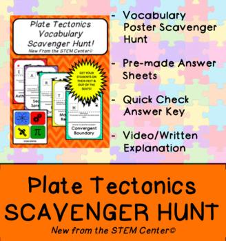 Plate Tectonics Vocabulary Scavenger Hunt