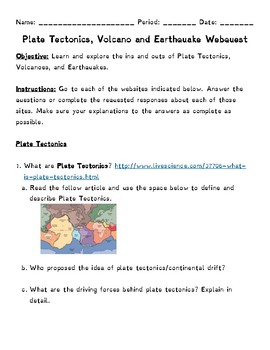 Plate Boundary Worksheet – careless.me
