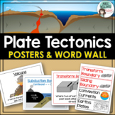 Plate Tectonics - Volcanoes, Plate Boundaries & Earthquake Faults Posters