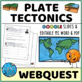 Plate Tectonics Webquest - Digital & Printable