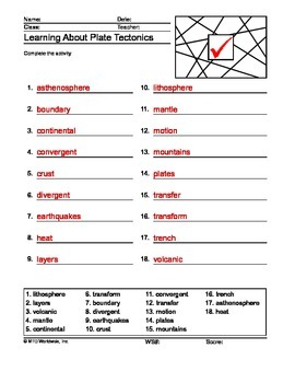 Plate Tectonics Word Search and Word Puzzles Bundle