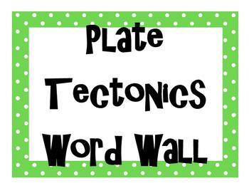 Plate Tectonics Word Wall
