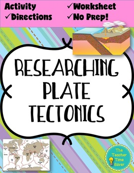 Plate Tectonics Worksheet Activity (Mapping Boundaries)