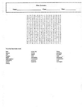 Plate Tectonics Worksheet Set with Keys
