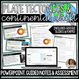 Plate Tectonics and Continental Drift Lesson Guided Notes and Assessment