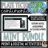 Plate Tectonics and Continental Drift Mini Bundle Distance Learning