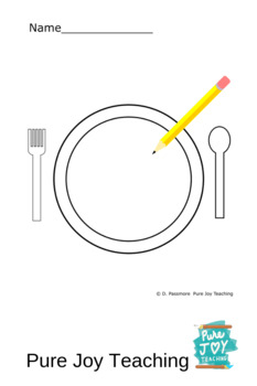 Plate Worksheet Free coloring page Inspire stories