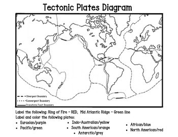 Plate tectonics map teaching resources teachers pay teachers plate tectonic map plate tectonic map fandeluxe Choice Image