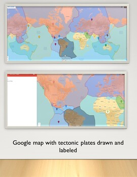 Plate tectonics project with Google maps