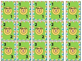 Plate the 8 math card game 2 games in 1 addition game