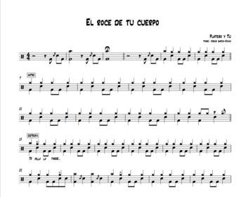 Platero Y Tú El Roce De Tu Cuerpo Transcripción Para Batería Drum Sheet