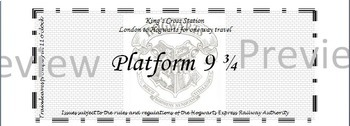 Harry Potter Platform 9 3/4 tickets *EDITABLE*