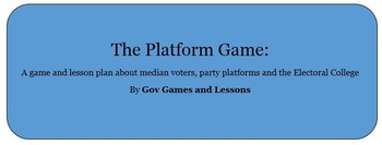 Platform game - A simulation about median voters, parties & Electoral College