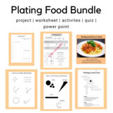 Plating & Saucing Techniques BUNDLE (Family and Consumer Science, FACS, FCS)