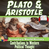 Plato & Aristotle   Contributions to Western Political Thought   Print & Digital