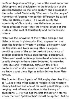 Plato Handout