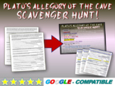 Plato's Allegory of the Cave SCAVENGER HUNT: Abridged w text-dependent questions