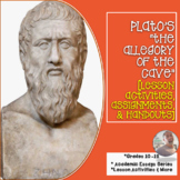 """Plato's """"The Allegory of the Cave""""[Lesson Activities, Assignments, and Handouts]"""