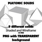 Platonic Solids (Clip Art PNG)