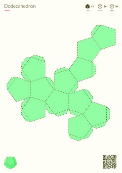 Platonics - printable nets of 3D shapes