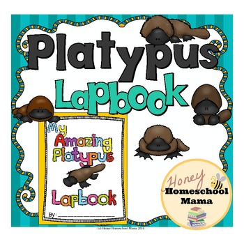 Platypus Lapbook with 20 Booklets, Writing Prompts, and Reading