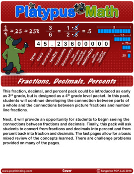 Platypus Math: Fractions, Decimals, Percents