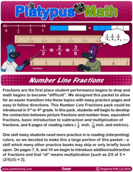 Platypus Math: Number Line Fractions