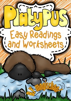 Platypus ( Ready to Print Easy Readings and Worksheets)