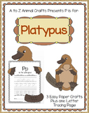 "Platypus and Letter ""P"" Crafts"