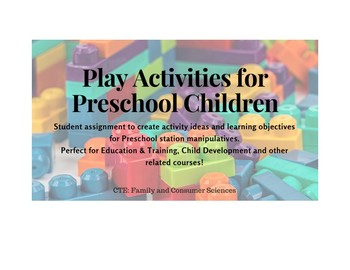 Play Activities for Preschool Children