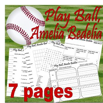 Play Ball Amelia Bedelia : Idioms Vocabulary & FUN Reading Packet * LINED PAPER