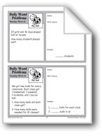Play Ball (Grade 2 Daily Word Problems-Week 14)