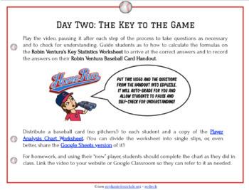 Play Ball! Using Baseball to Analyze Statistical Data