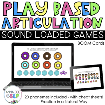 Play Based Articulation Games for Speech Therapy: BOOM Cards