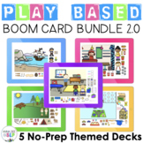 Play Based Boom Card Bundle for Preschool Speech Therapy 2.0