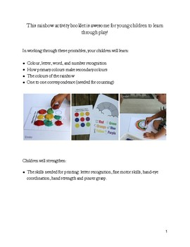 Rainbow Colors Play-Based Learning Activity Booklet