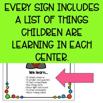 Play-Based Preschool Center Signs