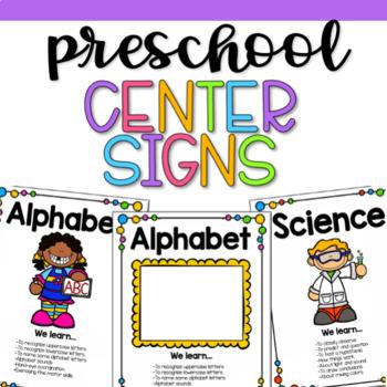 Editable Play-Based Preschool Center Signs