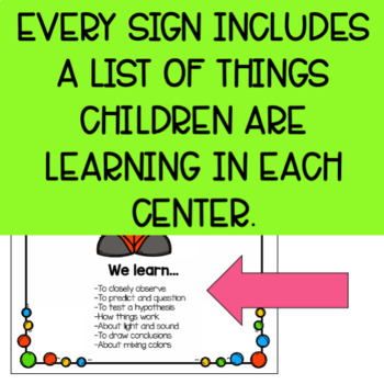 Editable Play-Based Preschool Center Signs