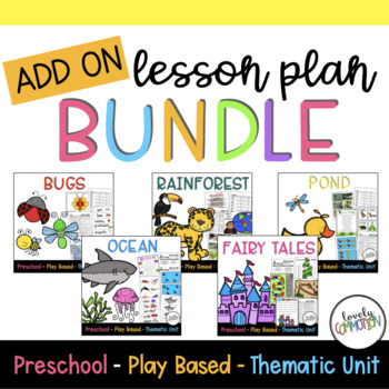 Play-Based Preschool Lesson Plans ADD-ON Bundle
