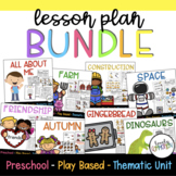 Play-Based Preschool Lesson Plans BUNDLE