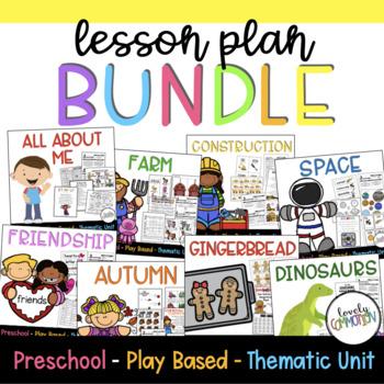 Play-Based Preschool Lesson Plans BUNDLE