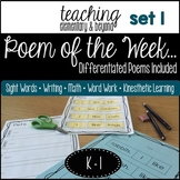 Poem of the Week and Activities Poetry for Shared Reading: