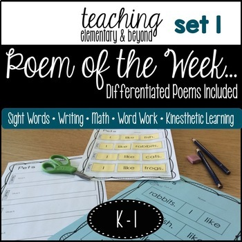Poem of the Week & Activities {Original Poetry: Month 1} A