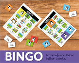 Play Bingo To Reinforce Three Letter Words (4-7 years)